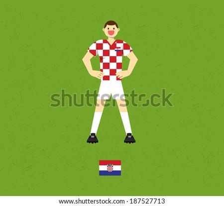 Croatia Soccer Tables  - stock vector