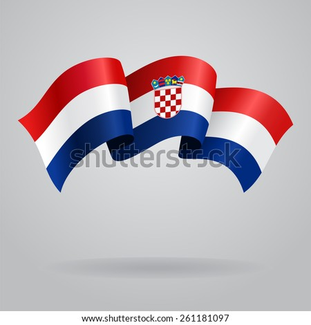 Croatian waving Flag. Vector illustration Eps 8. - stock vector