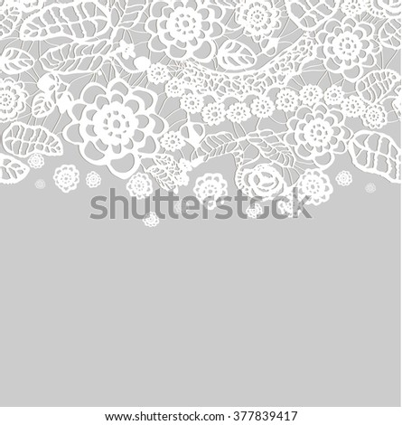 Crochet lace design. Vector illustration - stock vector