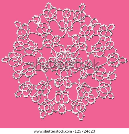 Crochet lace. Vector. - stock vector