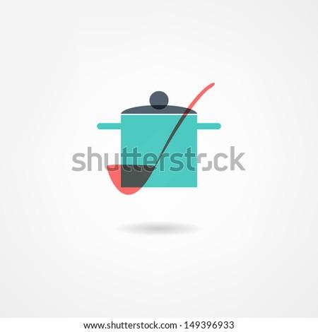crockery icon - stock vector