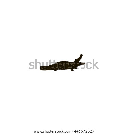 crocodile icon. crocodile sign - stock vector