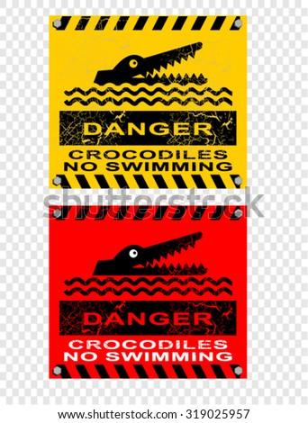 crocodiles, danger - stock vector