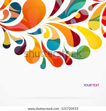 Crop circle made of colorful arc drops. Vector background. - stock vector
