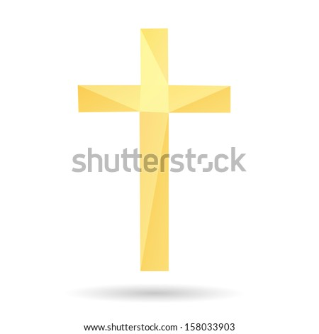 Cross abstract isolated on a white backgrounds, vector illustration - stock vector