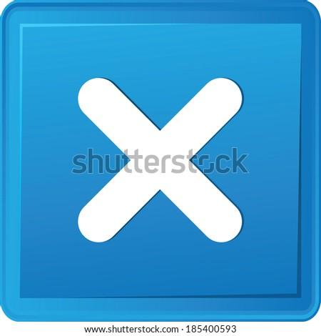 Cross button,vector - stock vector