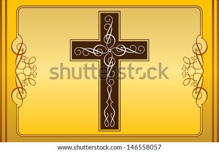 Cross christian - stock vector
