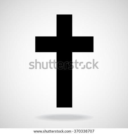 Cross. Christian Symbol. Vector illustration. Eps 10 - stock vector