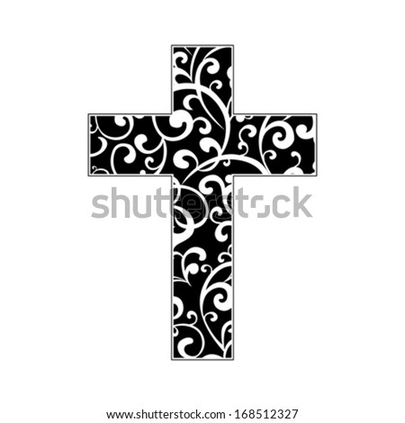 Cross isolated on White background.  Christian Symbol. Vector illustration  - stock vector