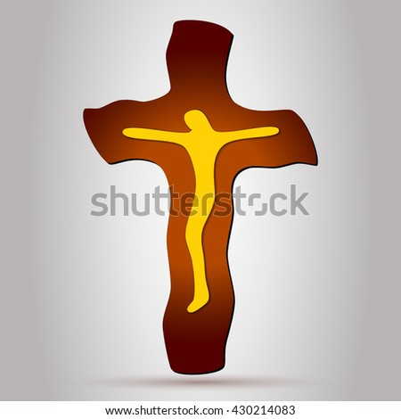 Cross. Jesus Christ. Jesus Christ on the Cross. Jesus on the Cross. Cristian Cross. Crucifix. Catholic Cross. Jesus Cross. Jesus Christ on Cross. Crucifixion of Jesus. Cross Shape. Easter Cross. Cross - stock vector