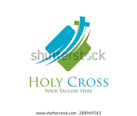 Cross vector logo design template.  Template logo for churches and Christian organizations cross . Calvary cross church logo . - stock vector