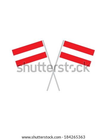 Crossed Austrian Flags - Vector - stock vector