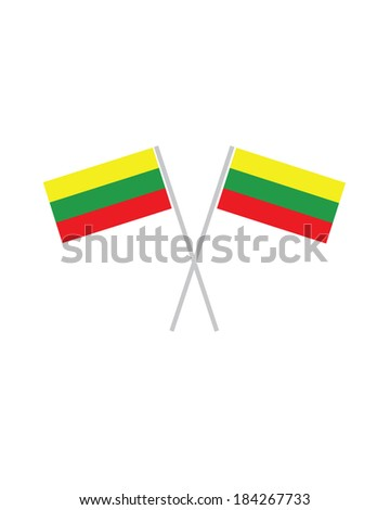 Crossed Lithuanian Flags - Vector - stock vector