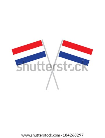 Crossed Netherlands Flags - Vector - stock vector