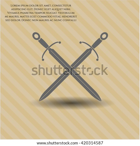 Crossed Swords icon, Crossed Swords icon vector, Crossed Swords icon symbol, Crossed Swords flat icon, Crossed Swords icon eps, Crossed Swords icon jpg, Crossed Swords icon app - stock vector