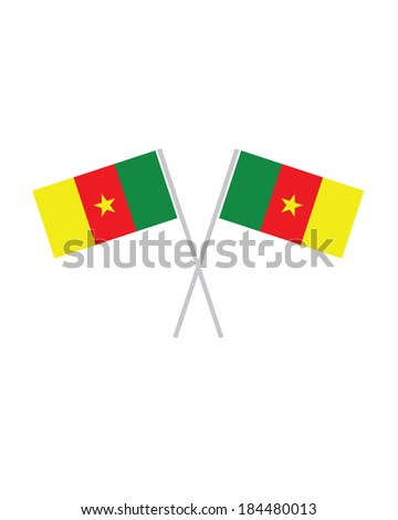 Crossed Vector Cameroon Flags - stock vector