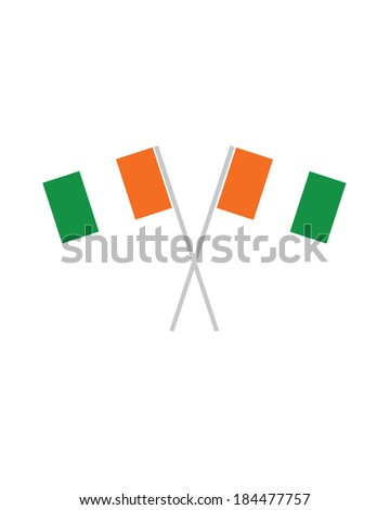 Crossed Vector Cote Divoire Flags  - stock vector