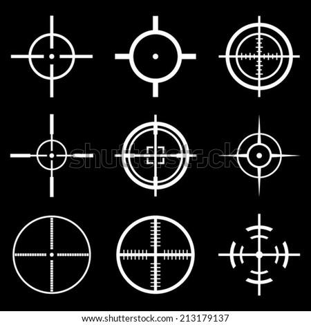 Crosshair Icons Set - stock vector