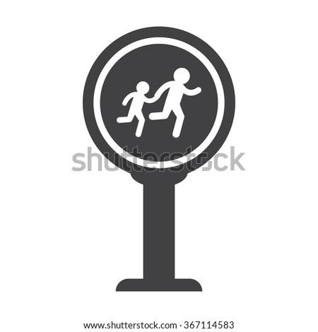 Crosswalk icon. Crosswalk icon vector. Crosswalk icon simple. Crosswalk icon app. Crosswalk icon web. Crosswalk icon logo. Crosswalk icon sign.Crosswalk icon ui.Crosswalk icon flat.Crosswalk icon eps. - stock vector