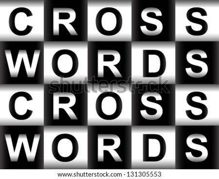 Crosswords, cross-words, cross words pattern from the word's letters - stock vector