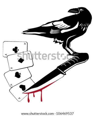 Crow - stock vector