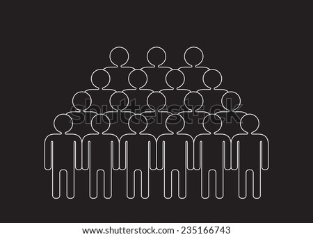 crowd - big group of people - stock vector