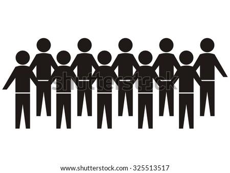 crowd figures - stock vector