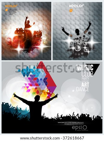 Crowd in front of a stage. Vector - stock vector
