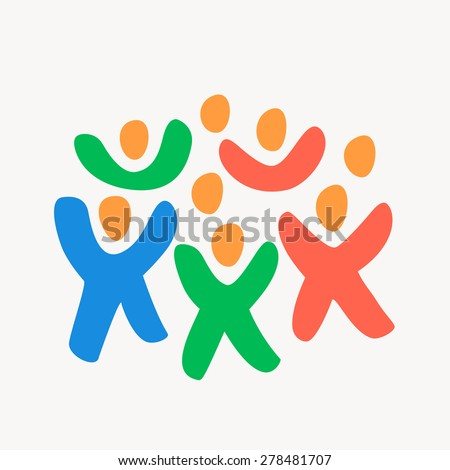 Crowd of people. - stock vector