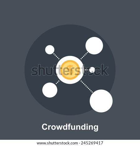 Crowdfunding - stock vector