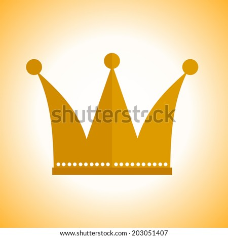 Crown. A symbol of luxury, power. Vector illustration.  - stock vector
