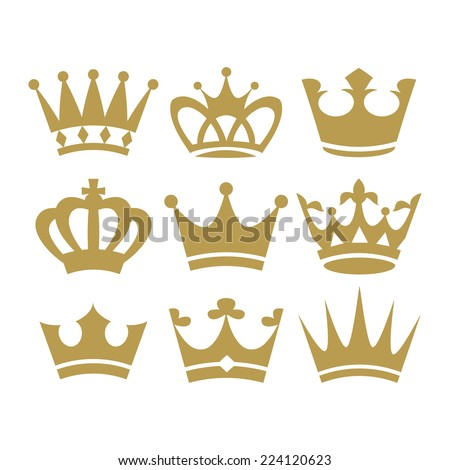 Crown icons - stock vector