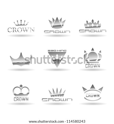 Crown icons set. Vol 1. - stock vector