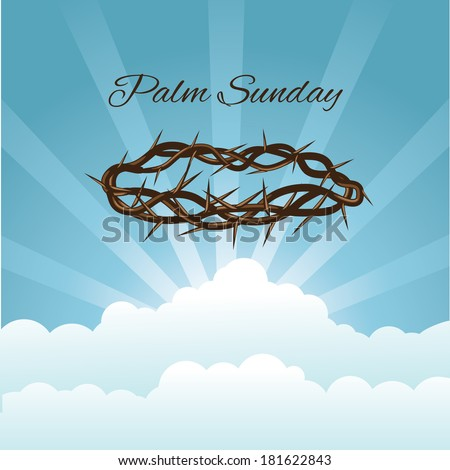 Crown of thorns in sky EPS 10 vector, grouped for easy editing. No open shapes or paths. - stock vector