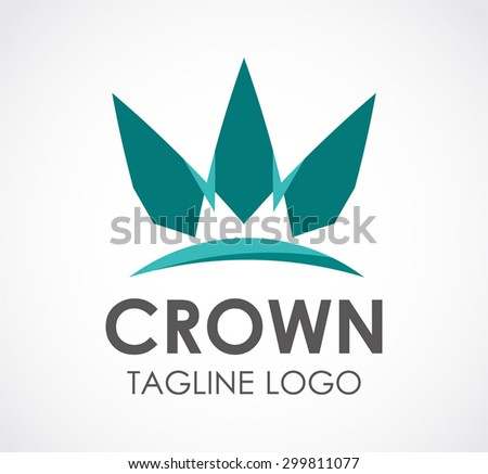 Crown real estate building abstract vector logo design template business property icon company identity symbol concept - stock vector