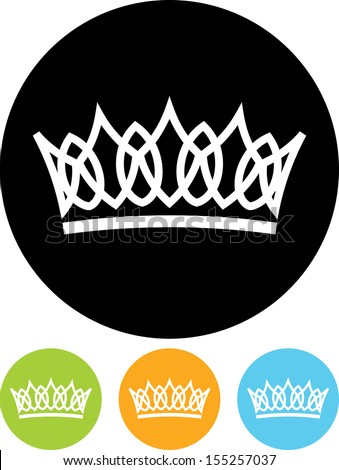 Crown vector isolated - stock vector