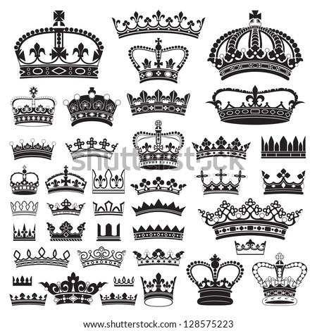 CROWNS Antique and decorative - stock vector