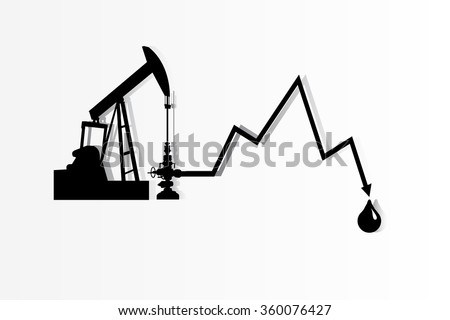 Crude Oil are low price , Vector - stock vector
