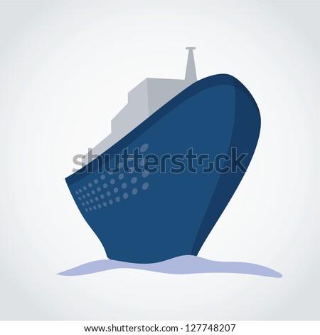 Cruise Ship - vector illustration - stock vector