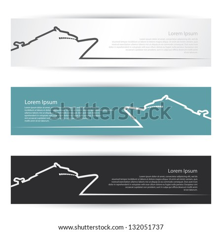 Cruiser banners and headers - vector illustration - stock vector