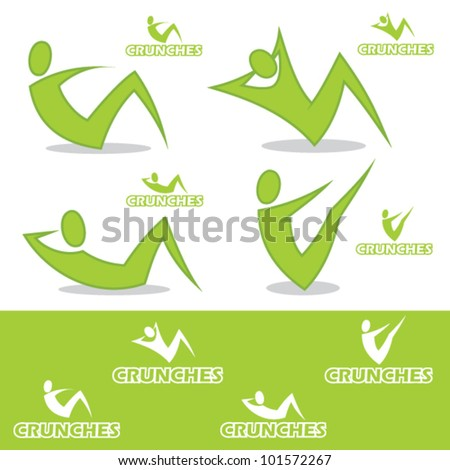 Crunches icons - vector illustration - stock vector