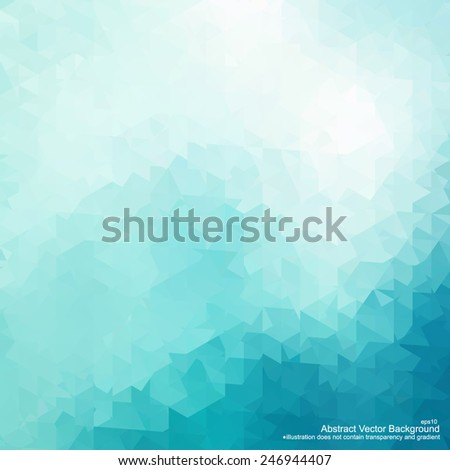 Crystal abstract background. Vector illustration does not contain gradient and transparency - stock vector