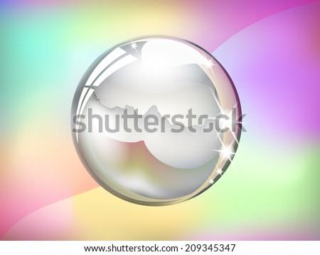 Crystal ball - stock vector