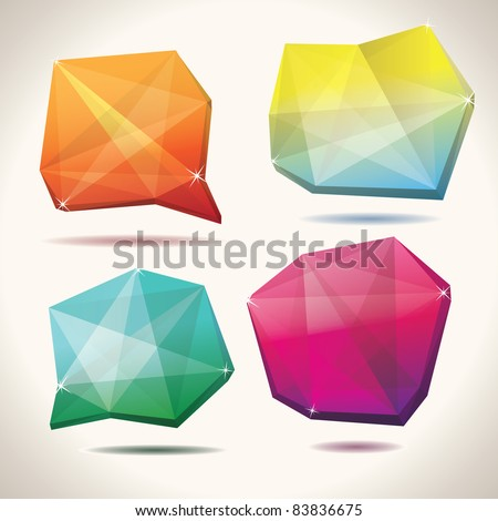 Crystal shapes - stock vector