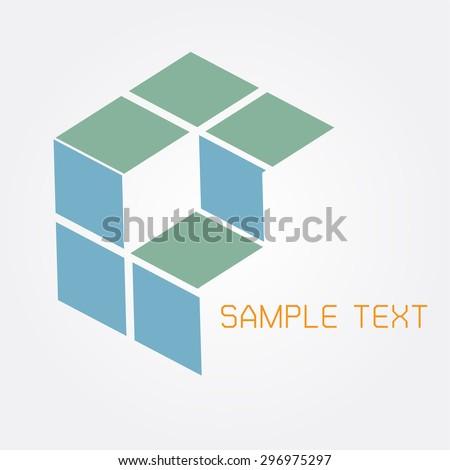 cube Box sign , logo, symbol, icon, graphic, vector . - stock vector