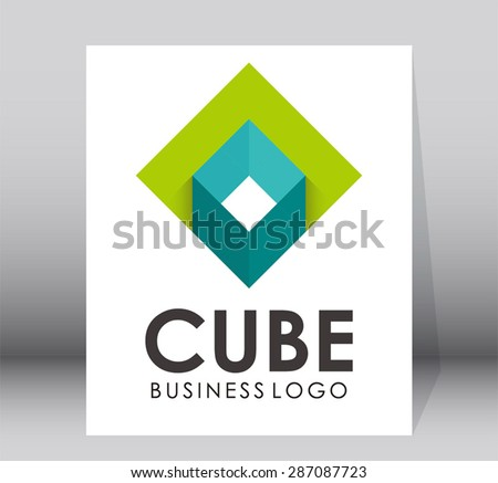 Cube business simple logo design vector template abstract symbol shape icon element template - stock vector