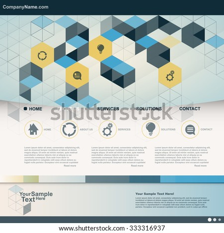 Cube Design Business Website for you. vector - stock vector