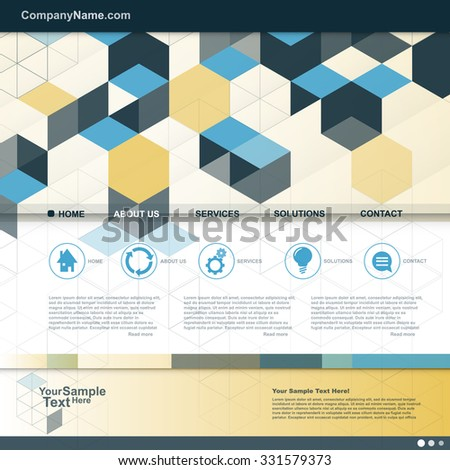 Cube Design website for your Business. vector - stock vector