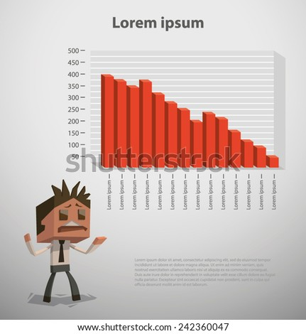 Cube infographic for businness, vector - stock vector