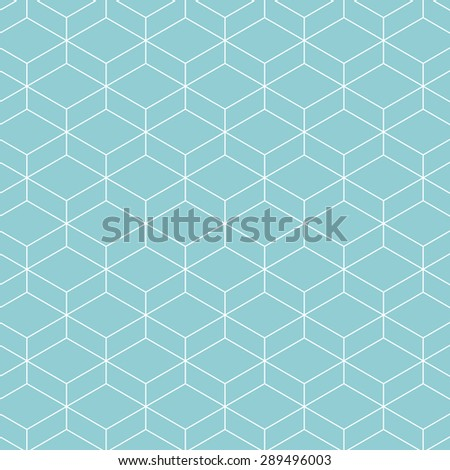 Cube pattern background. Vector background blue green - stock vector